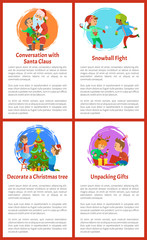 Conversation with Santa Claus Christmas Holidays