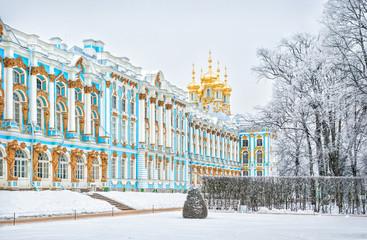 Церковь Екатерининского дворца Church of the Resurrection in the Catherine Palace Fototapete