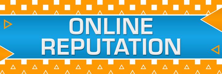 Online Reputation Orange White Basic Shapes Triangles Horizontal