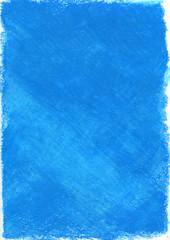青いクレヨンのグラフィック素材