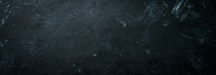 Black stone background. Top view. Free copy space. Wall mural