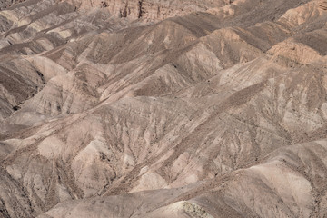 Zabriskie Point overlook in Death Valley National Park in California