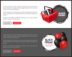 Black Friday Special Offer, Balloons Realistic 3D