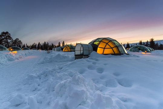 Arctic Resort ,Lapland, Finland, April 10th 2017, Editorial use