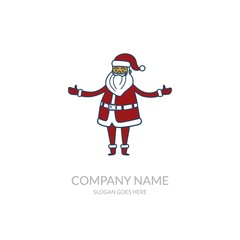Christmas Happy New Year Religion Business Wallpaper Stock Vector Logo Design Template Santa Claus
