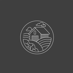 Vector icon and logo for a restaurant or farm