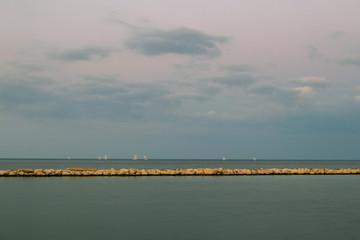 A blue horizon