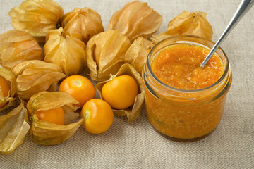 Golden berries, cape gooseberry jam