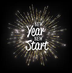 new year new start design poster