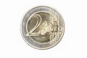 Euro Münze 2004 Deutschland 2 Euro Vorderseite auf weißem Hintergrund