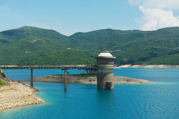 High Island Reservoir at the Hong Kong Global Geopark in Hong Kong, China.