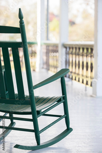 Fantastic View Of A Rocking Chair On A Porch In Southern Louisiana Gmtry Best Dining Table And Chair Ideas Images Gmtryco