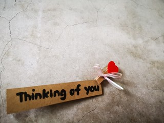 The beautiful message hanging on the wall to your loved one,