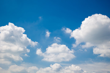 Beautiful clouds and dark blue sky during the sunny day.