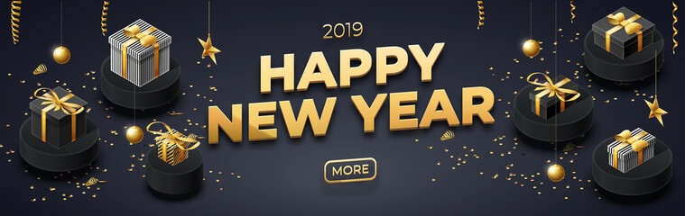 happy new year 2019 background place for text brochure