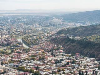 Old town Tbilisi, Georgia. Panorama. Top view