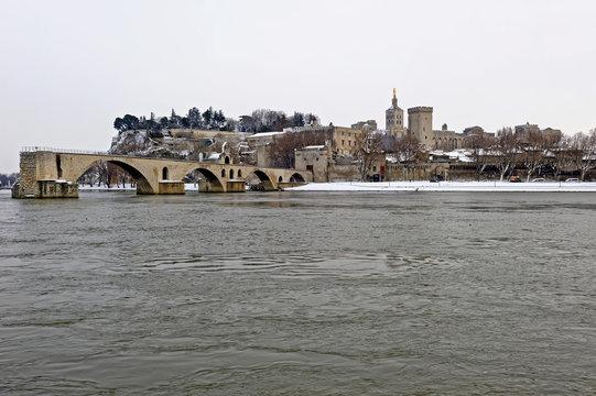 Avignon sous la neige