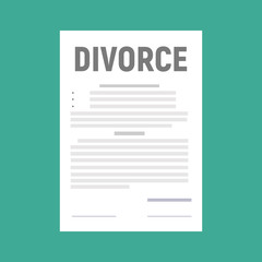 Divorce and property divison concept. Vector