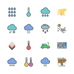 climate icon set. vector set about electric car, air conditioner, polar bear and north pole icons set.