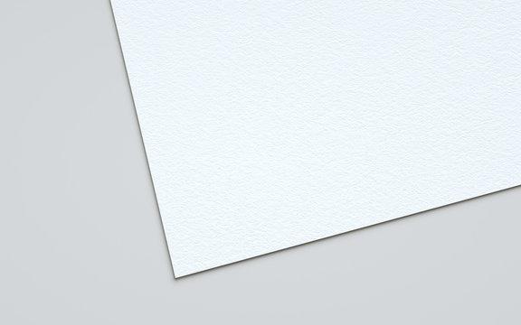 A4 Flyer / Letterhead Mock-Up - Close-Up. 3D Illustration
