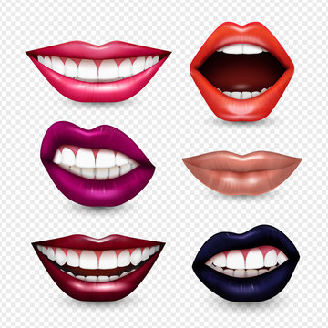 Mouth Expressions Realistic Transparent