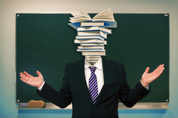 Head full of books