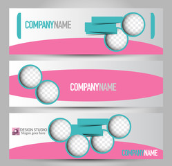 Banner template. Abstract background for design,  business, education, advertisement. Vector  illustration.