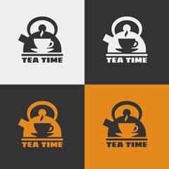 Vector tea time icon.