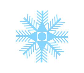 snowflake icon on white background