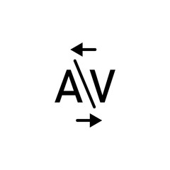 kerning, word A and V icon. Can be used for web, logo, mobile app, UI, UX