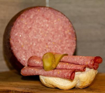 Bierkugel (German and Austrian sausage delicacy)