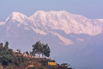 Annapurna Machapuchre (Fish Tail) Mountain view from pokhara