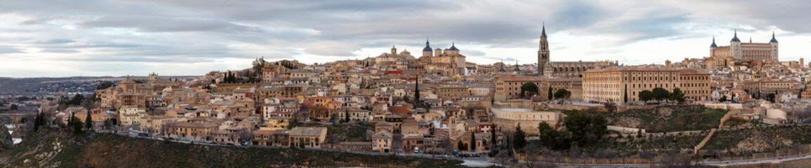 panoramic view of the city of Toledo, Castilla la mancha, Spain