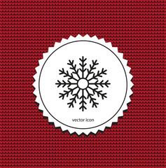 vector icon snowflake