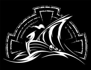 Drakkar Viking vector illustration