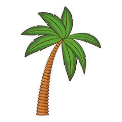 Palm tree cartoon black and white