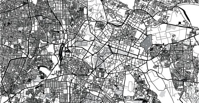 Urban vector city map of Bangalore, India