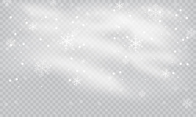 Snow and wind on a transparent background. White gradient decorative element.vector illustration. winter and snow with fog. wind and fog