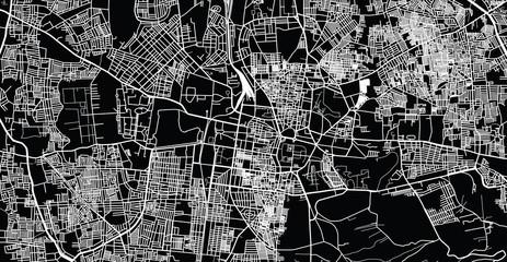 Urban vector city map of Mydore, India