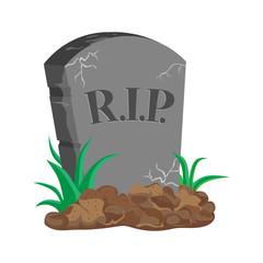 image tombstone, RIP, flat design