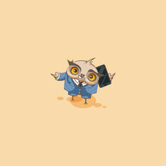 owl in business suit with smart phone