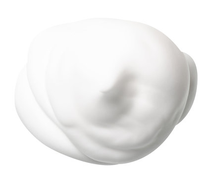 foam mousse for hair on white background isolation