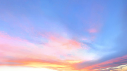 beautiful bright color sky. sunset or dawn background.