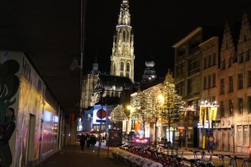 Foto op Aluminium Shanghai Antwerp Christmas
