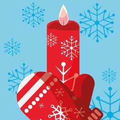 Christmas glove design