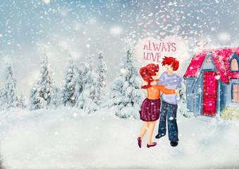 Always Love. Valentine card