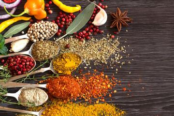 Foto auf Acrylglas Gewürze Herbs and spices