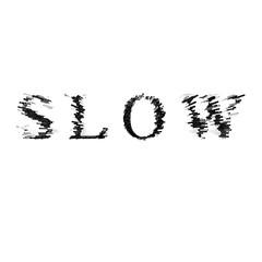 3d text illustration depth effect slow