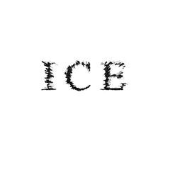 3d text illustration depth effect ice