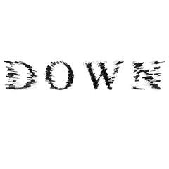 3d text illustration depth effect down